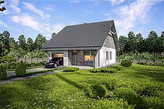Projekt domu Murator C333h Miarodajny - wariant VIII
