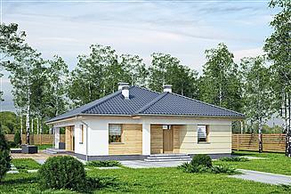 Projekt domu Murator M203a Perłowy świt - wariant I