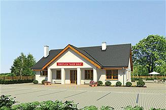 Projekt budynku usługowego Murator U26a Budynek usługowy