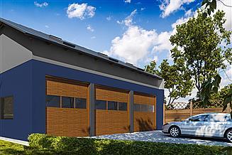 Projekt garażu G331 - Budynek garażowo - gospodarczy