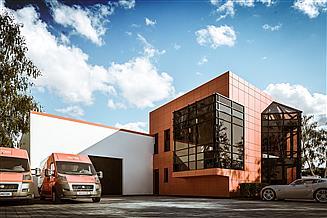 Projekt budynku biurowego G336 - Budynek magazynowo - biurowy