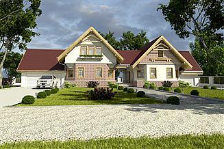 Projekt domu Bolek i Lolek z garażem 2-st. [A2]