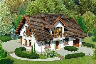 Projekt domu Dom przy Cyprysowej 14 D