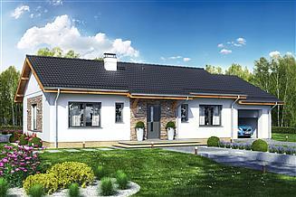 Projekt domu Terrier 4 z garażem