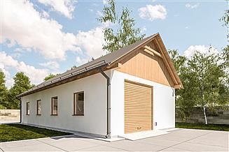 Projekt budynku gospodarczego G342 - Budynek garażowy
