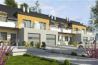 Projekt domu Gwarek z garażem 1-st. szeregówka [A-SZ]