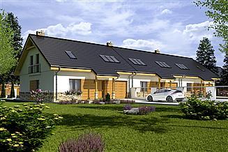 Projekt domu Jarząbek III z garażem 1-st. szeregówka [A-SZ]