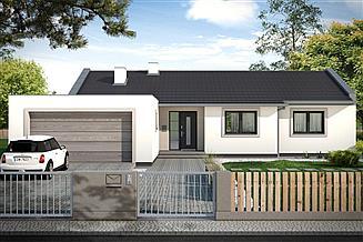Projekt domu Simple 5 2-garaże