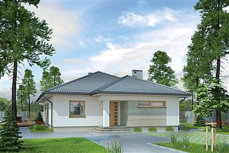 Projekt domu Murator M106b Słoneczna polana - wariant II
