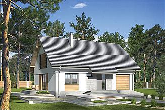 Projekt domu Murator M206a Ukryty w ciszy - wariant I