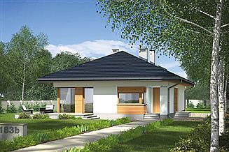 Projekt domu Murator M183b Bajeczny widok - wariant II