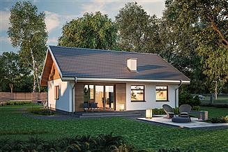 Projekt domu Murator C333j Miarodajny - wariant X
