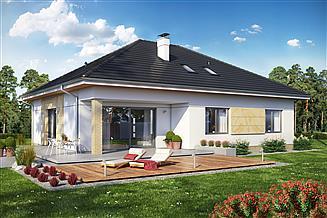 Projekt domu Heros 4 z wiatą garażową