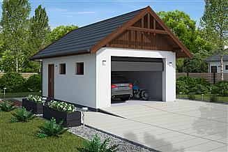 Projekt budynku gospodarczego G339A budynek gospodarczy