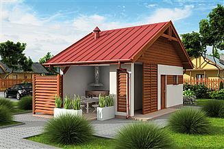 Projekt budynku gospodarczego G326 szkielet drewniany budynek gospodarczy