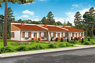 Projekt domu Lublana 2 C dom mieszkalny (zabudowa szeregowa)