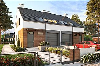 Projekt domu Eco 16 - dwulokalowy