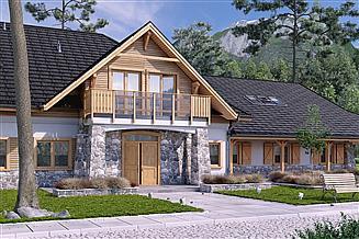 Projekt pensjonatu Świerszcz Pensjonat, Hotel, Dom weselny