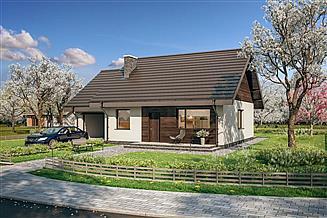 Projekt domu Murator C333n Miarodajny - wariant XIII