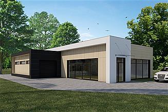 Projekt budynku usługowego Pawilon handlowy PH229