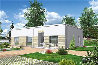 Projekt budynku biurowego Murator UC68 Budynek usługowy (zaplecza socjalnego)
