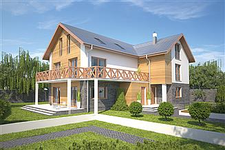 Projekt pensjonatu Murator UC70 Budynek usługowy (pensjonat)