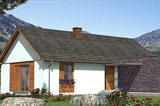 Projekt domu A-140 Dom szkieletowy