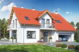 Projekt domu Bocian 1 z garażem 2-st.