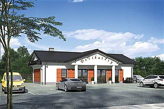 Projekt budynku usługowego Murator U32a Budynek usługowy