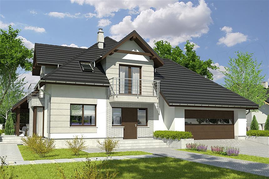 Projekt Domu Diana Z Garażem 2 St A1 Domiportapl