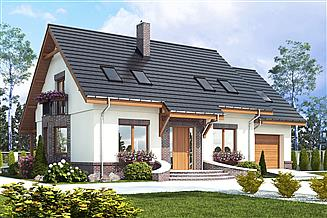 Projekt domu Dom Dla Ciebie 2 z garażem 1-st. [A]
