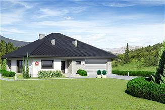 Projekt domu Dom przy Rubinowej 5 bis