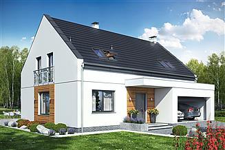 Projekt domu Bocian 2 z garażem 2-st.