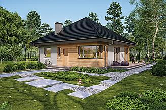 Projekt domu Murator C444g Czterolistna koniczyna - wariant VII