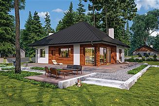 Projekt domu Murator C444o Czterolistna koniczyna - wariant XIV