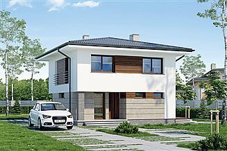 Projekt domu Murator M173b Pełen energii - wariant II