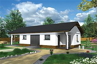 Projekt budynku inwentarskiego Murator IGC22 Budynek inwentarsko-gospodarczy z wiatą garażową