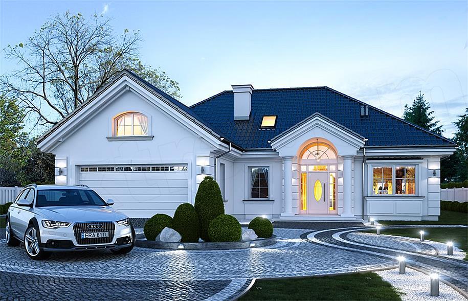 f6ea75dc4a2b2e Projekt Dom na Parkowej 6 121,67 m2 - koszt budowy 258 tys. zł ...
