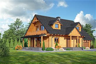 Projekt domu Chmielowo dw