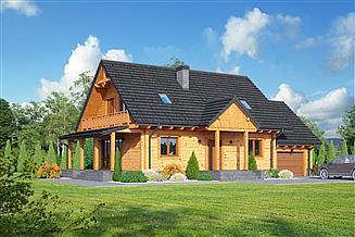 Projekt domu Chmielowo x dw