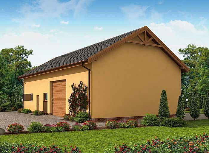 Projekt Garażu G240 Szkielet Drewniany Garaż Z Pomieszczeniem