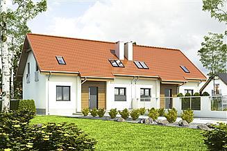 Projekt domu Lerka bez wiaty bliźniak [B-BL1]