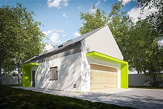 Projekt garażu G357 - Budynek garażowo - gospodarczy