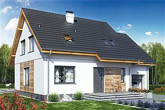 Projekt domu Jaskółka 1 z garażem