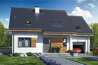 Projekt domu Jaskółka 2 z garażem