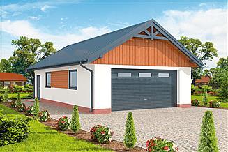 Projekt garażu G272 szkielet drewniany garaż dwustanowiskowy