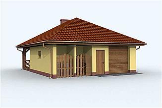 Projekt budynku gospodarczego G122 budynek gospodarczy