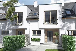 Projekt domu Iskra segment skrajny lewy