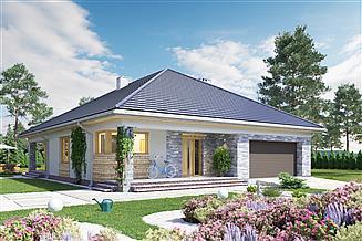 Projekt domu Kordian - murowana – beton komórkowy