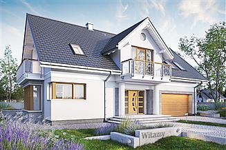 Projekt domu Lazuryt As - murowana – beton komórkowy